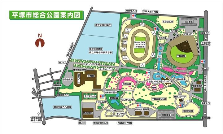 園内の全体平面図