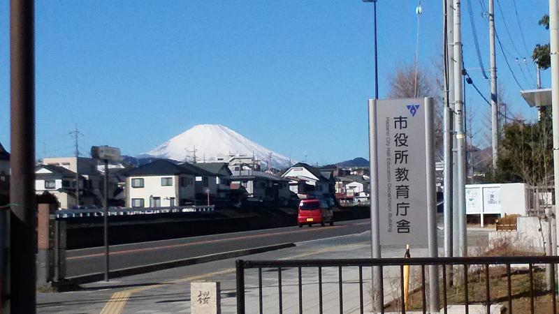 途中から富士山が見える