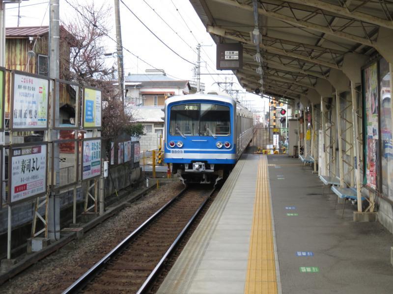 飯田岡駅で電車待ち