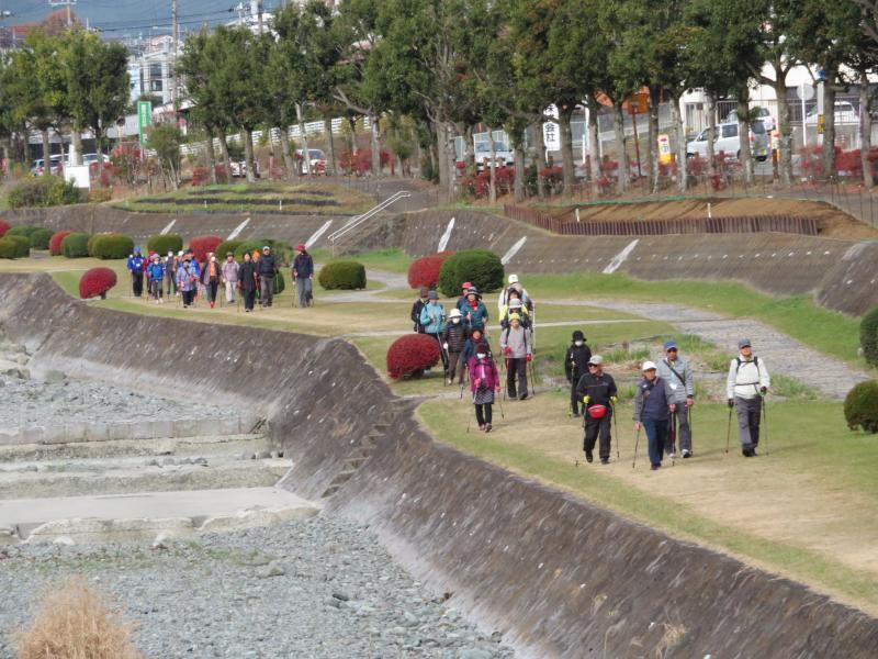 水無川の緑道は歩きやすい