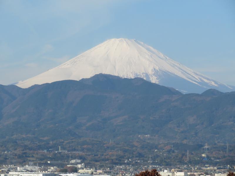 富士山のくっきりと