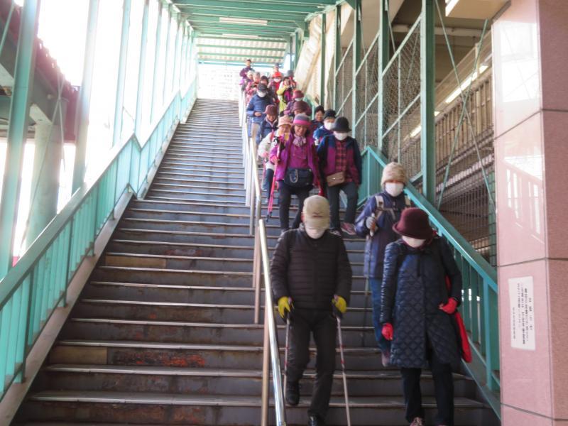 府中本町の駅の階段