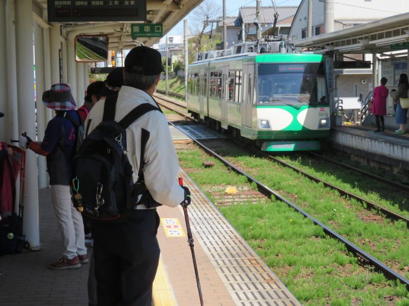 世田谷線の電車は色とりどり