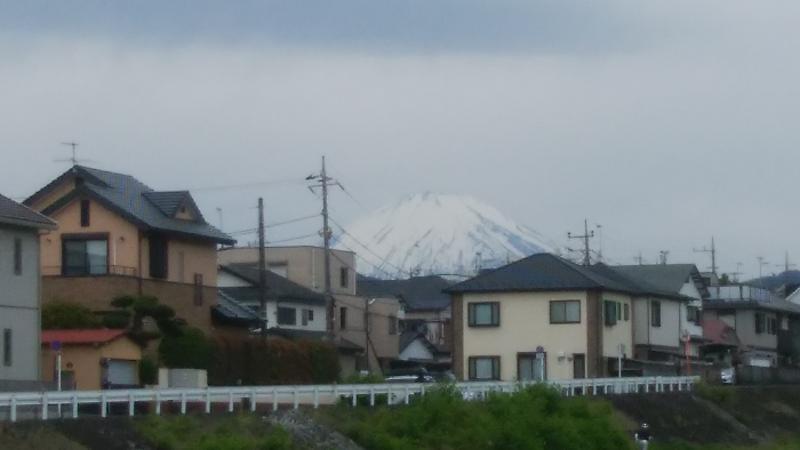 5月でも雪の富士山