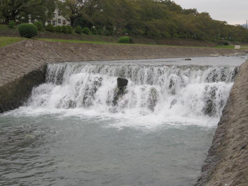水無川の水量は凄く多い