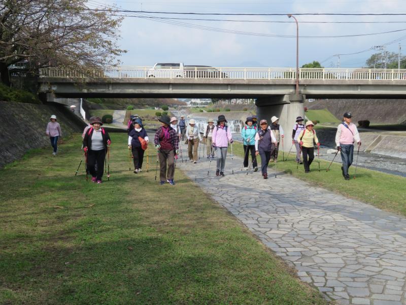 緑道は広く歩きやすいです