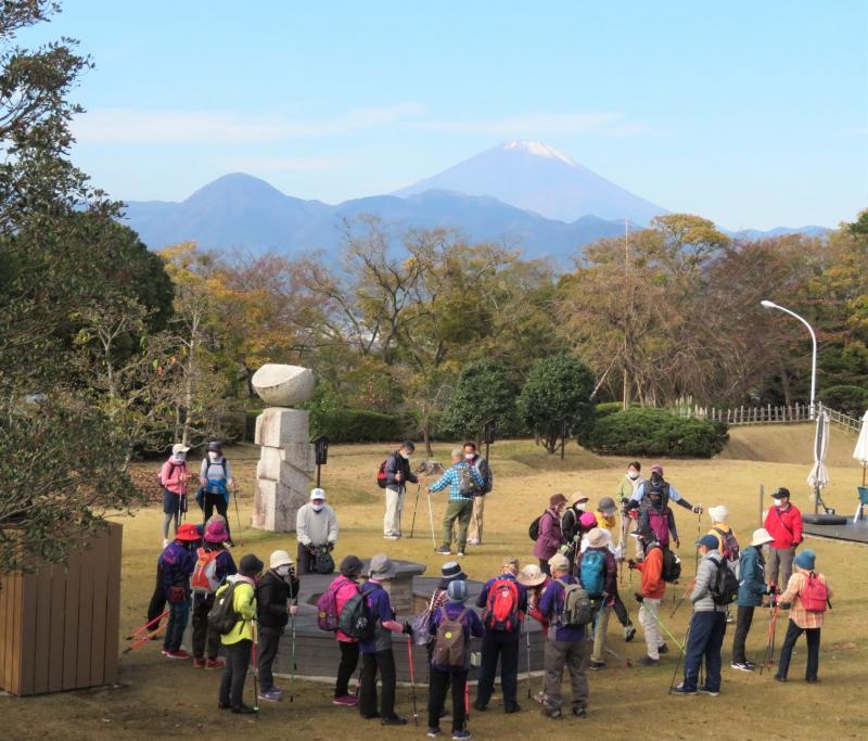 富士山が見えます。さあ出発です