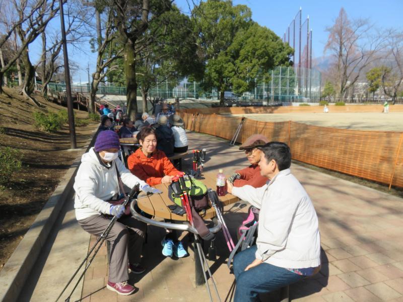 ピクニック広場で子ガメグループ