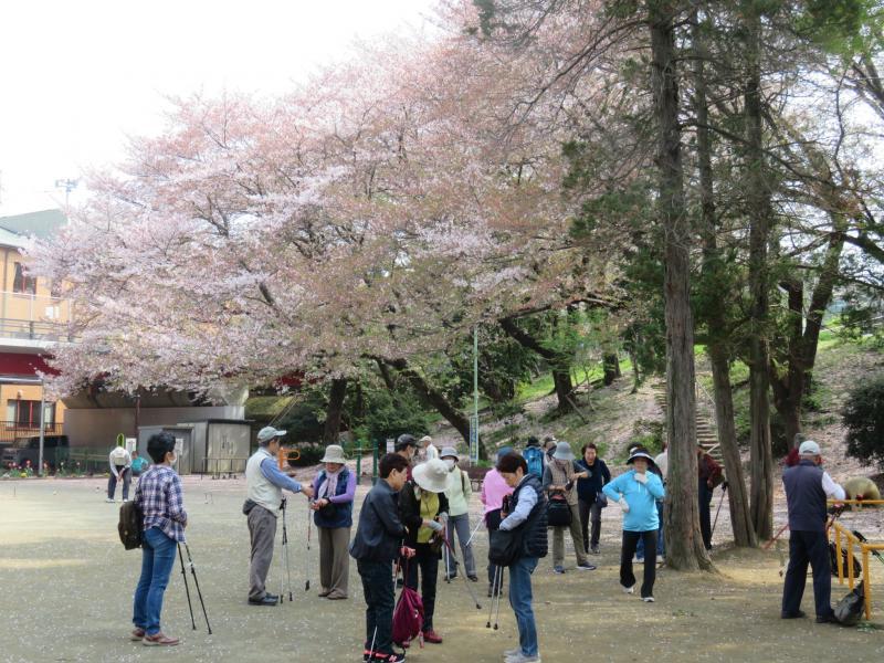 富士見公園でウォーミングアップ
