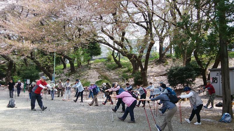 富士見公園でのクールダウン