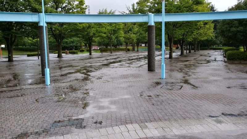 体育館前の広場の状態