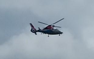 見上げていたのはヘリコプターでした